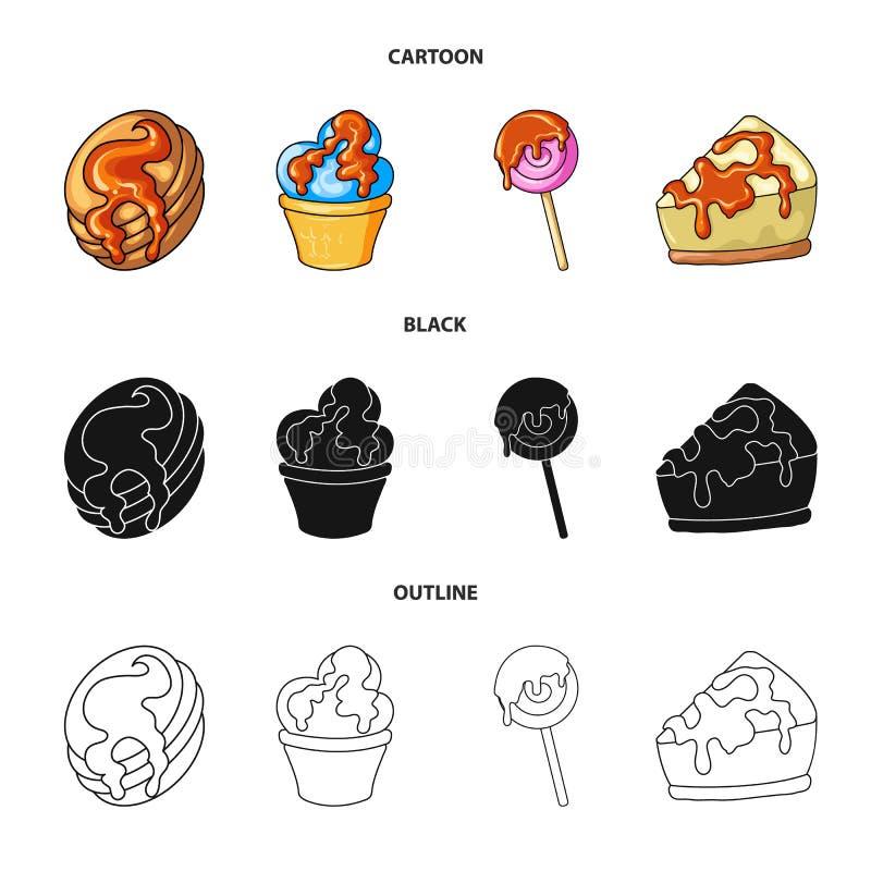 Illustrazione di vettore della confetteria e del segno culinario Raccolta dell'icona di vettore del prodotto e della confetteria  illustrazione vettoriale