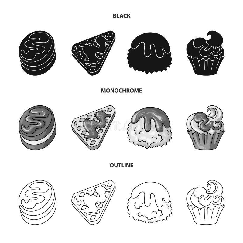 Illustrazione di vettore della confetteria e del segno culinario Raccolta del vettore delle azione del prodotto e della confetter royalty illustrazione gratis