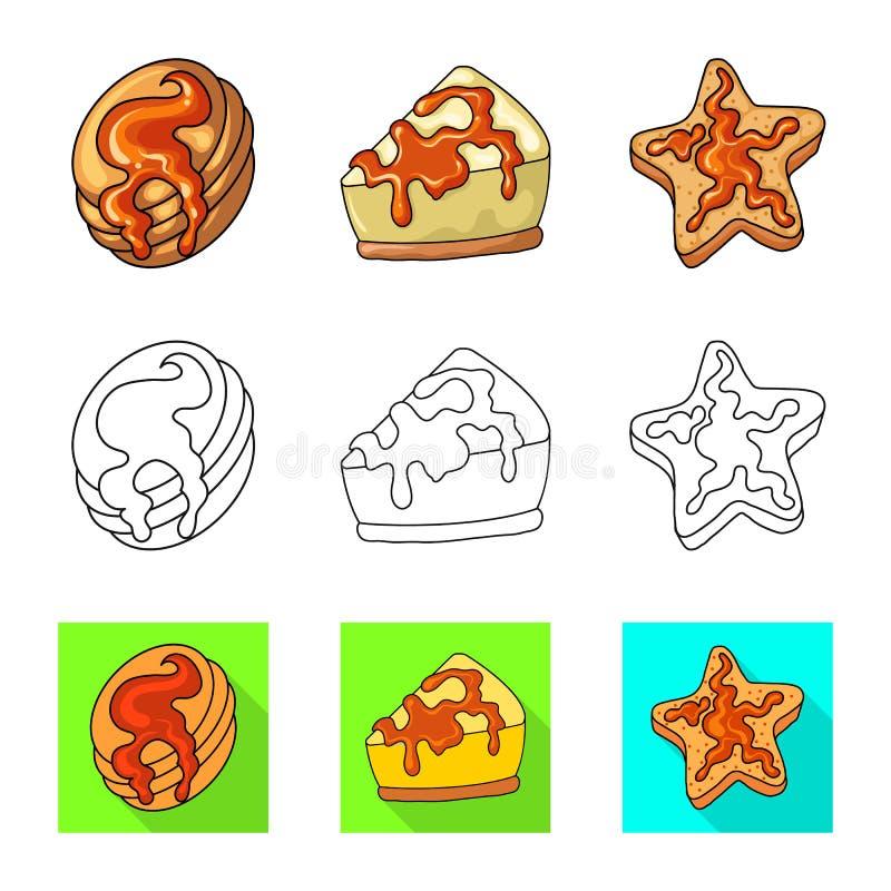 Illustrazione di vettore della confetteria e del simbolo culinario Metta dell'illustrazione di vettore delle azione del prodotto  royalty illustrazione gratis