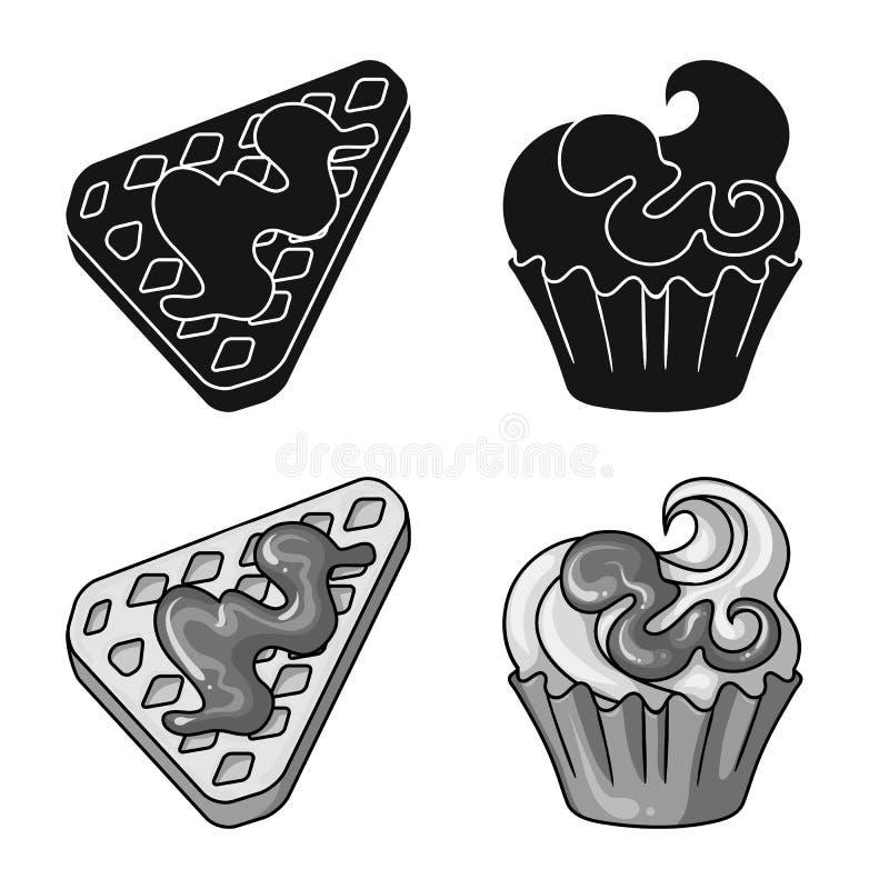 Illustrazione di vettore della confetteria e del simbolo culinario Metta dell'icona di vettore del prodotto e della confetteria p royalty illustrazione gratis