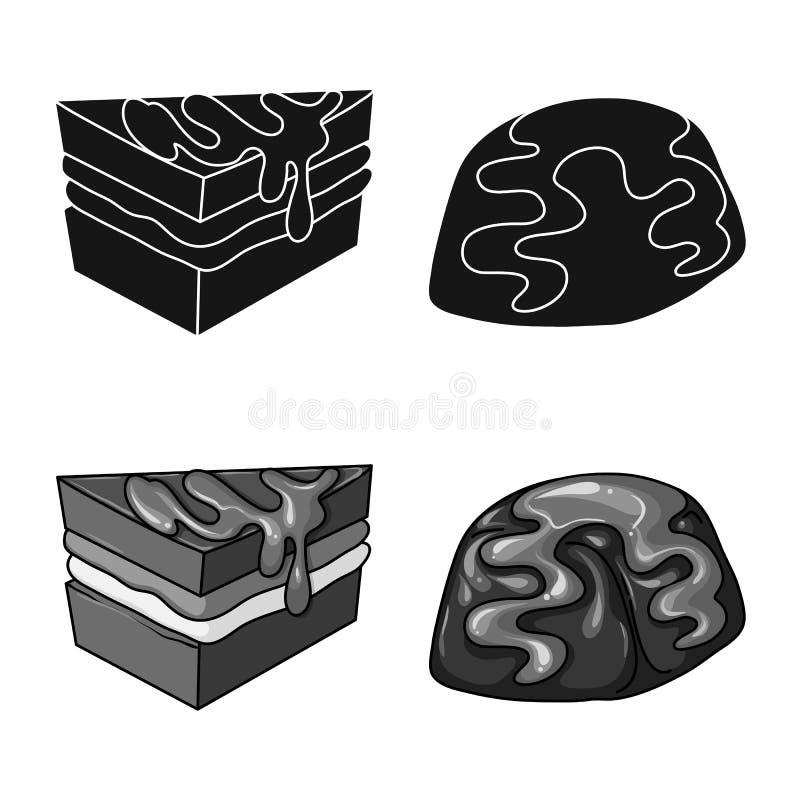 Illustrazione di vettore della confetteria e del simbolo culinario Raccolta del simbolo di riserva del prodotto e della confetter royalty illustrazione gratis