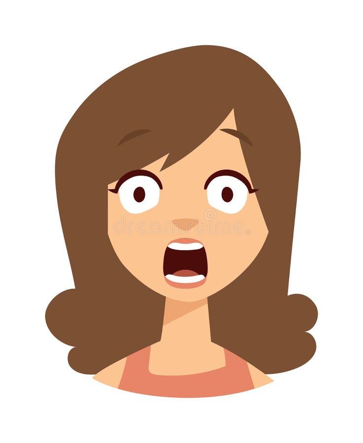 Illustrazione di vettore della donna di tristezza royalty illustrazione gratis