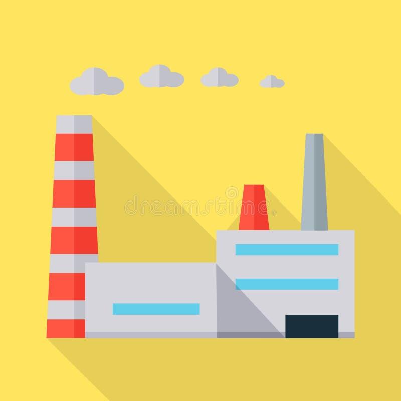 Illustrazione di vettore della fabbrica nella progettazione piana royalty illustrazione gratis