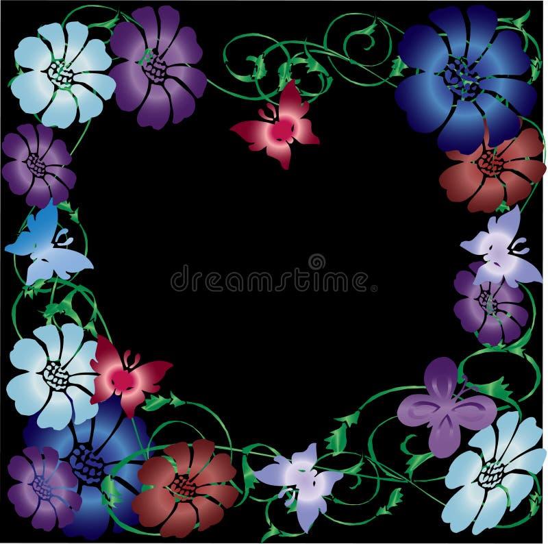 Illustrazione di vettore della farfalla immagini stock libere da diritti