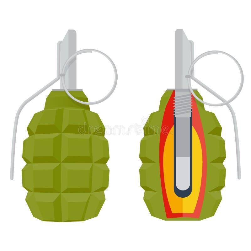 Illustrazione di vettore della granata a mano royalty illustrazione gratis