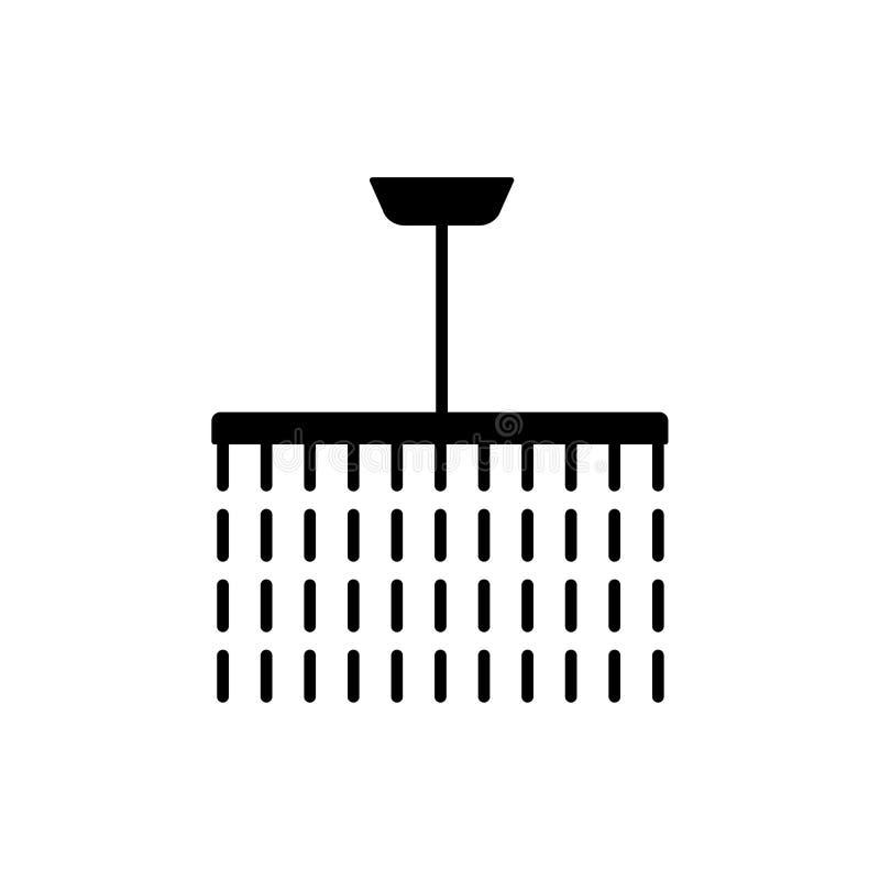 Illustrazione di vettore della lampada d'annata del soffitto Icona piana del crysta illustrazione vettoriale