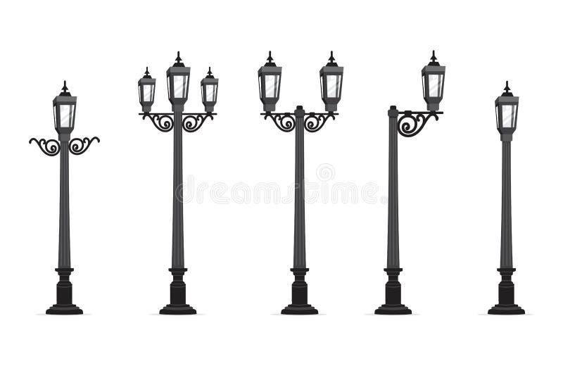 Illustrazione di vettore della lampada di via del giardino royalty illustrazione gratis