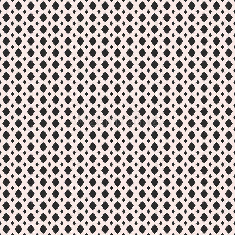 Illustrazione di vettore della maglia, grata Picchiettio senza cuciture monocromatico illustrazione di stock