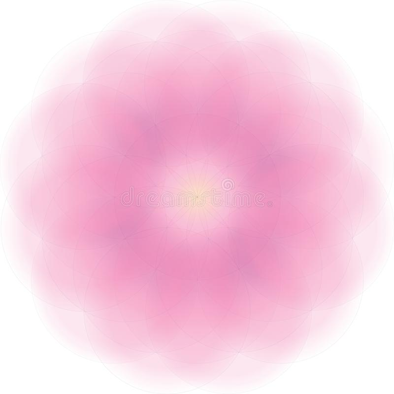 illustrazione di vettore della mandala del fiore con la pendenza molto morbida royalty illustrazione gratis