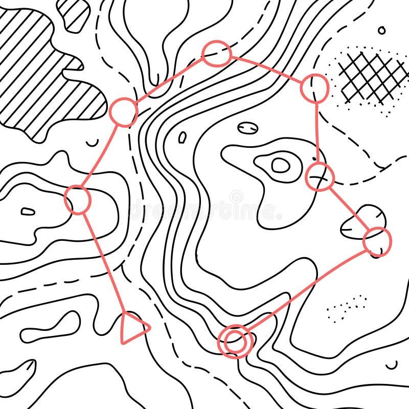 Illustrazione di vettore della mappa topografica illustrazione vettoriale