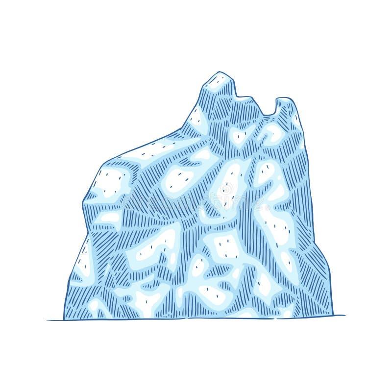Illustrazione di vettore della montagna dell'iceberg royalty illustrazione gratis