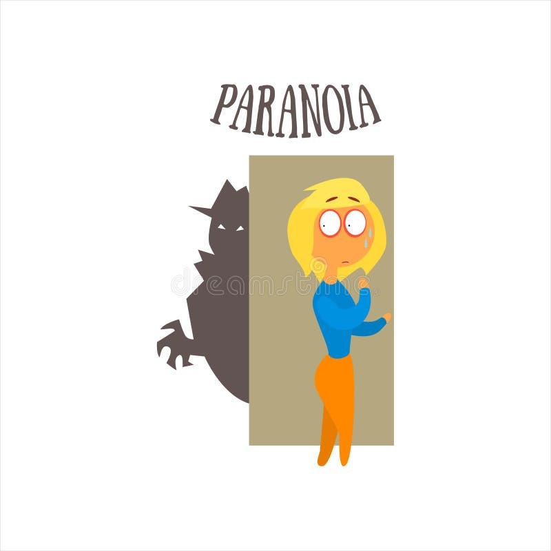 Illustrazione di vettore della paranoia illustrazione vettoriale