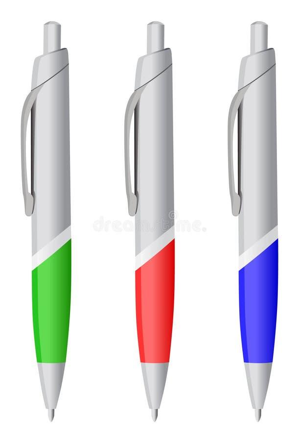 Illustrazione di vettore della penna di Ballpoint royalty illustrazione gratis