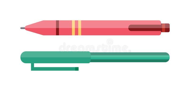 Illustrazione di vettore della penna di vettore royalty illustrazione gratis