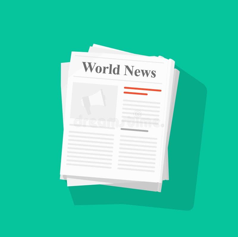 Illustrazione di vettore della pila di giornale illustrazione vettoriale