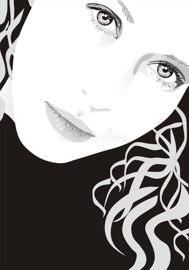 Illustrazione di vettore della ragazza bionda illustrazione vettoriale