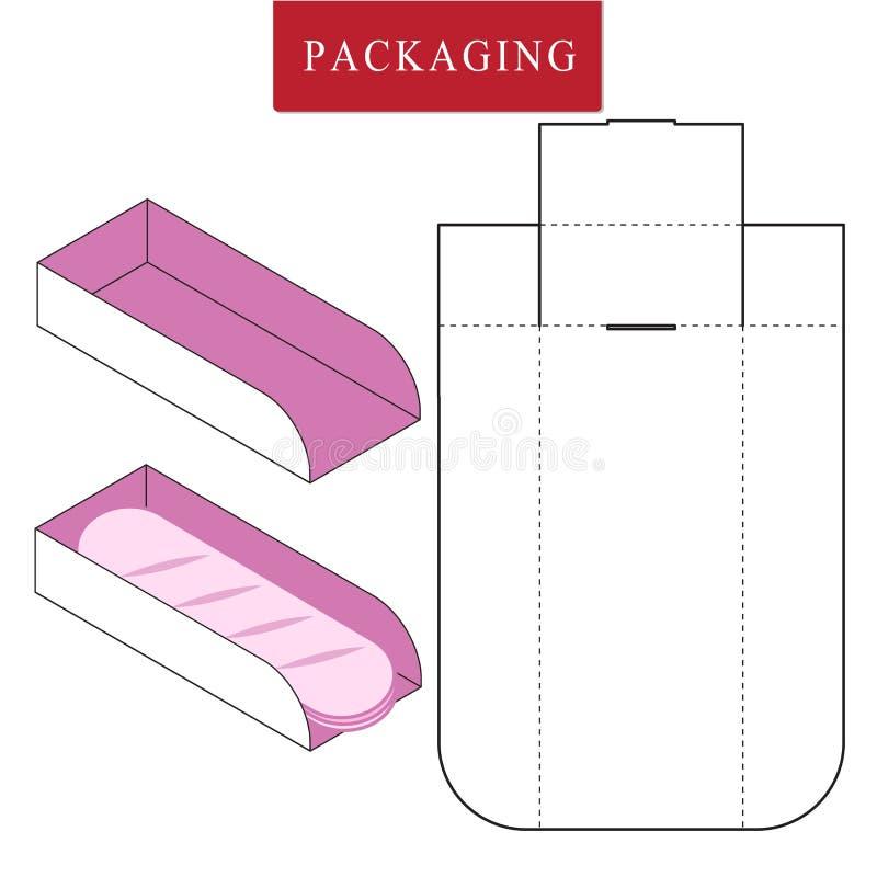 Illustrazione di vettore della scatola modello del pacchetto illustrazione vettoriale