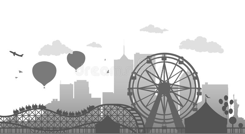 Ruota di Ferris illustrazione vettoriale