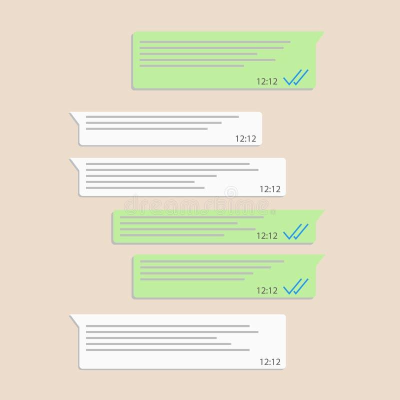 Illustrazione di vettore della struttura di concetto del messaggero della rete sociale illustrazione di stock