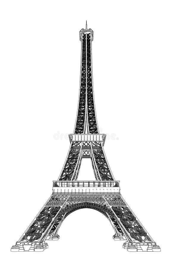 Download Illustrazione Di Vettore Della Torre Eiffel Illustrazione Vettoriale - Illustrazione di estratto, posto: 30829469