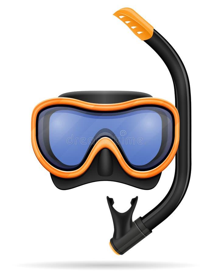 Illustrazione di vettore delle azione della maschera di immersione subacquea immagini stock libere da diritti