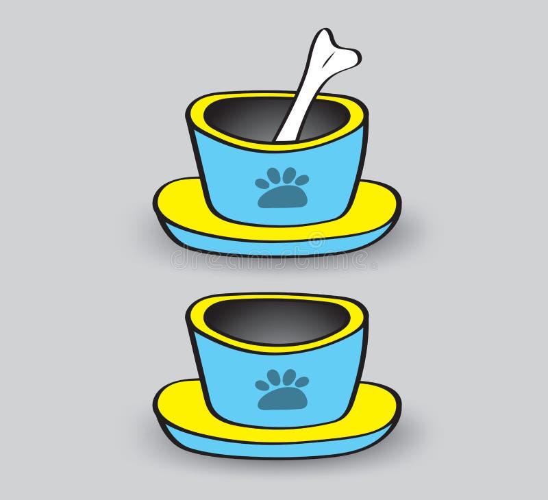 Illustrazione di vettore delle ciotole dell'animale domestico, icona di web, segno royalty illustrazione gratis