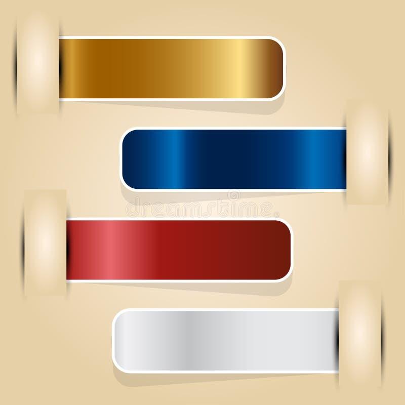 Illustrazione di vettore delle etichette - - fotografie stock libere da diritti