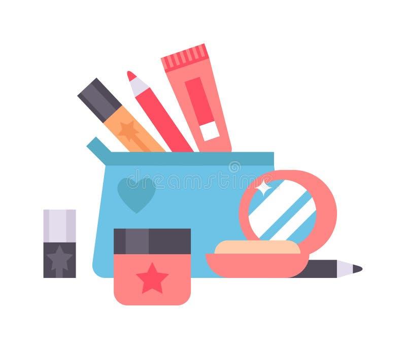 Illustrazione di vettore delle icone dei cosmetici illustrazione di stock