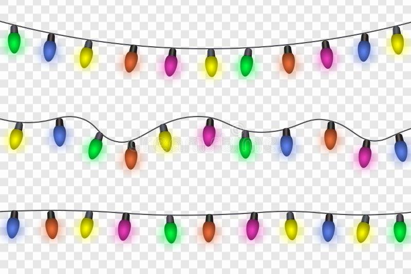 Illustrazione di vettore delle luci di Natale illustrazione di stock