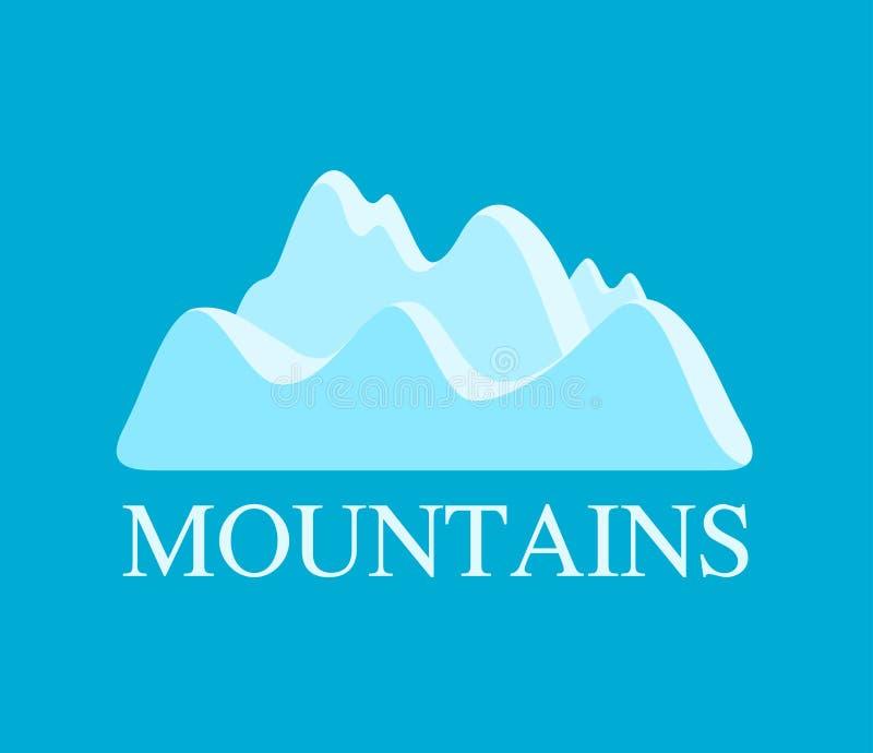 Illustrazione di vettore delle montagne illustrazione vettoriale