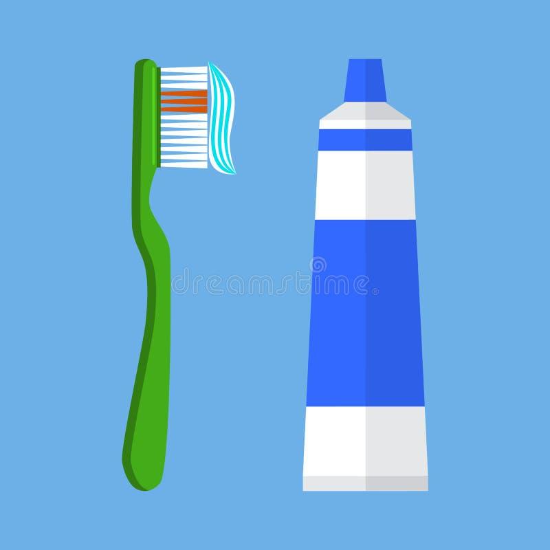 Illustrazione di vettore dello spazzolino da denti royalty illustrazione gratis