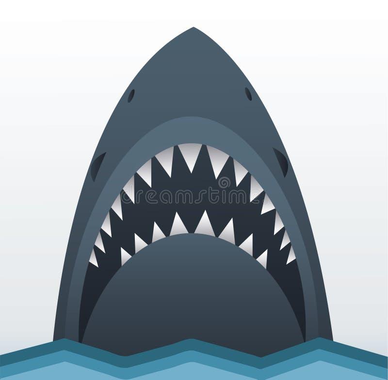 Illustrazione di vettore dello squalo illustrazione vettoriale