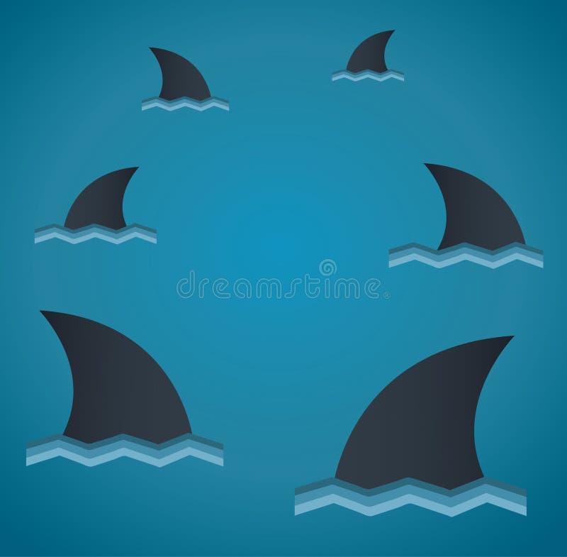 Illustrazione di vettore dello squalo royalty illustrazione gratis