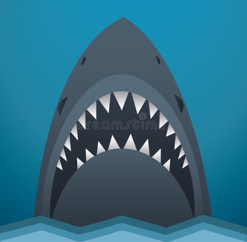 Illustrazione di vettore dello squalo illustrazione di stock
