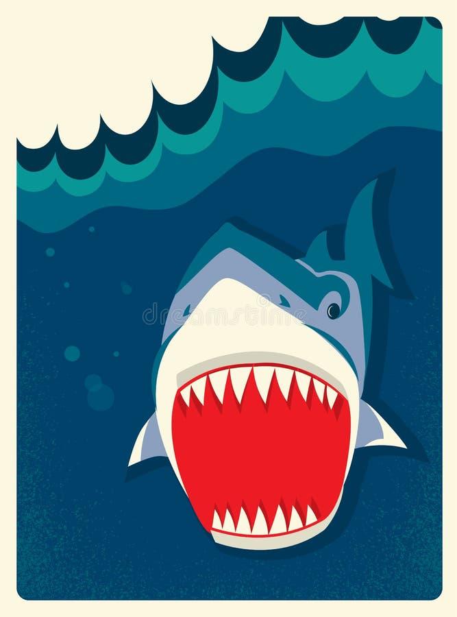 Illustrazione di vettore dello squalo del pericolo royalty illustrazione gratis