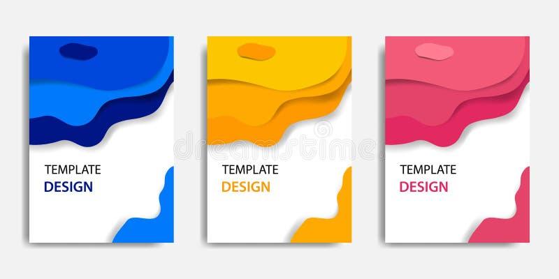 Illustrazione di vettore, derisione del documento sul modello, adeguamento facile di colore Stile topografico del taglio di carta royalty illustrazione gratis