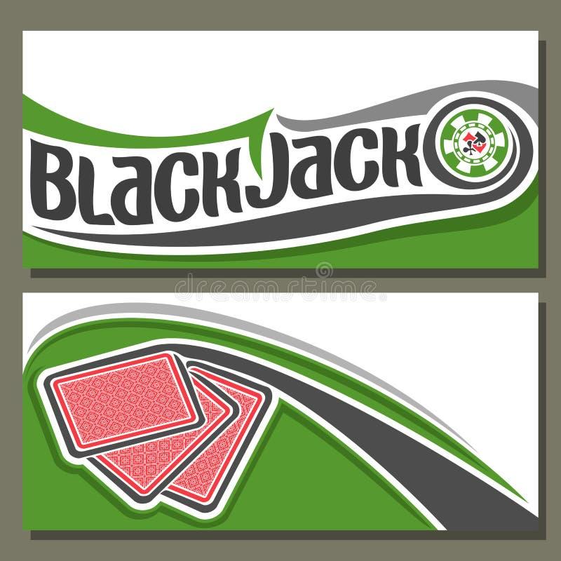 Illustrazione di vettore di Black Jack royalty illustrazione gratis