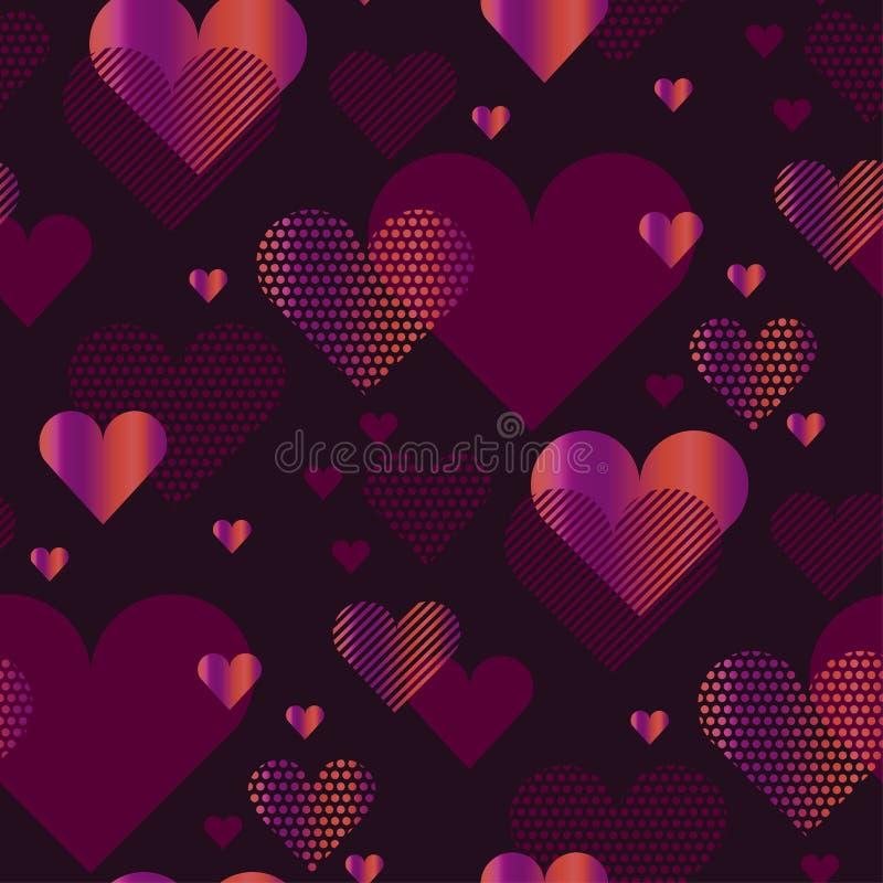 Illustrazione di vettore di concetto del cuore di amore illustrazione vettoriale