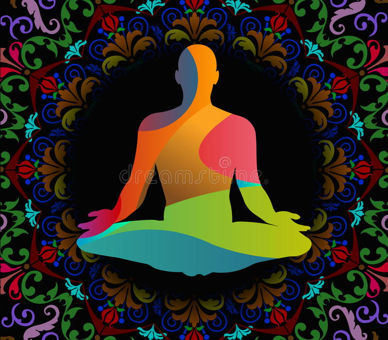 Illustrazione di vettore di giorno di yoga del mondo, fondo del modello royalty illustrazione gratis