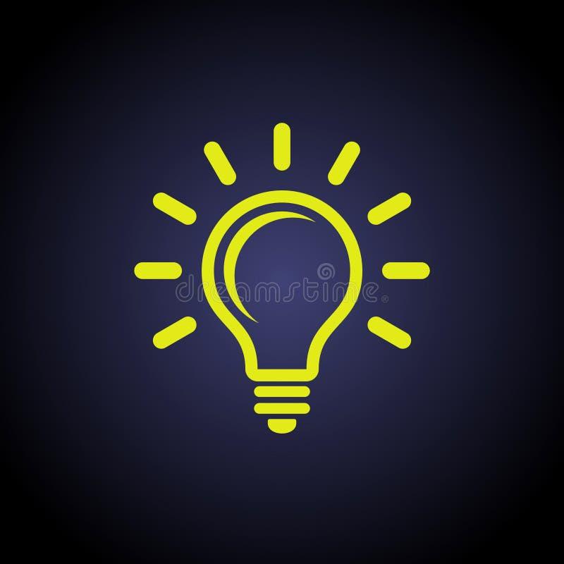 Illustrazione di vettore di idea della lampadina illustrazione vettoriale