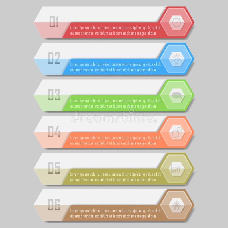 Illustrazione di vettore di Infographic può essere usato per la disposizione di flusso di lavoro, il diagramma, le opzioni di num illustrazione vettoriale