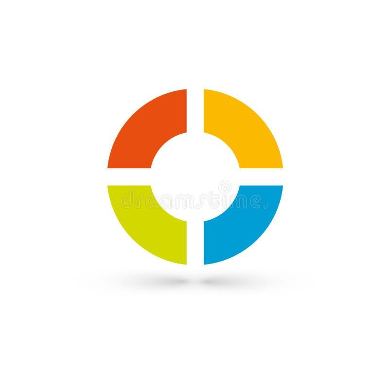 Illustrazione di vettore di Infographic Vettore di ENV 10 Concetto di affari con 4 opzioni su fondo bianco Modello per l'opuscolo illustrazione di stock