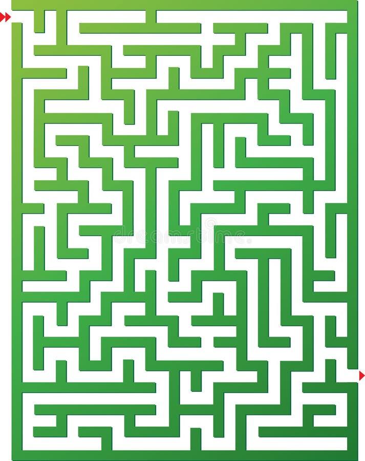 Illustrazione di vettore di labirinto immagine stock