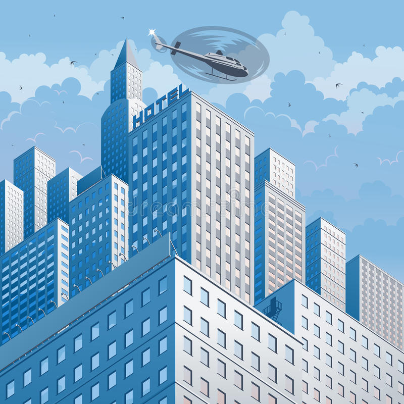 Illustrazione di vettore di paesaggio urbano illustrazione di stock