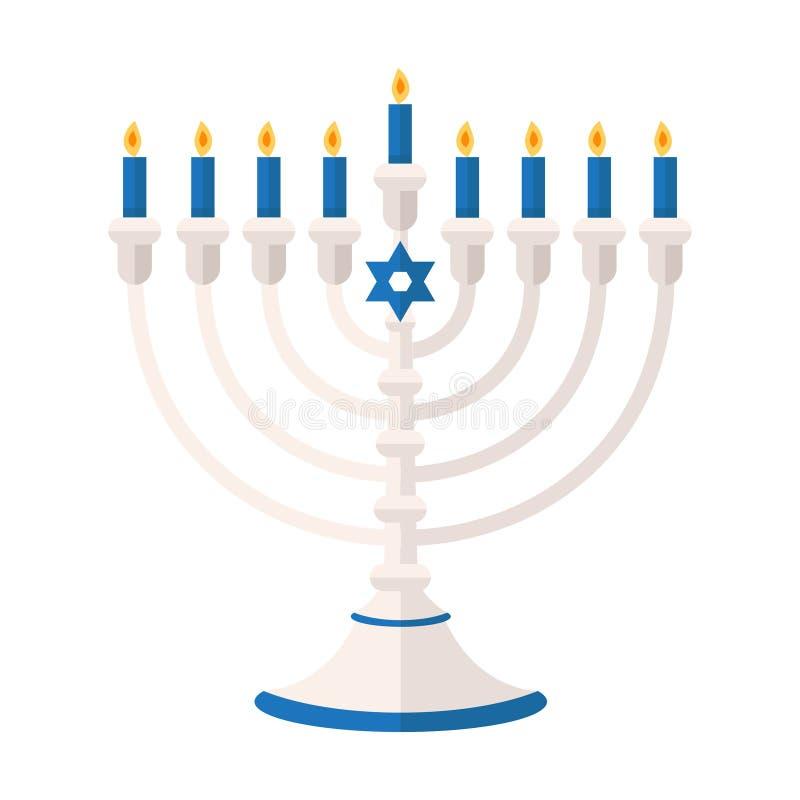 Illustrazione di vettore di Pentateuch o di Torah Festa del ele di Chanukah royalty illustrazione gratis