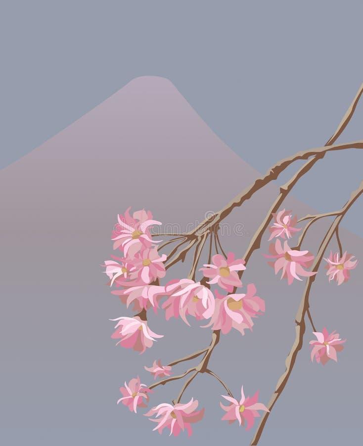 Illustrazione di vettore di sakura giapponese illustrazione vettoriale