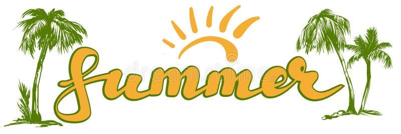 Illustrazione di vettore di simbolo di logo della spiaggia di estate isolata su fondo bianco illustrazione vettoriale