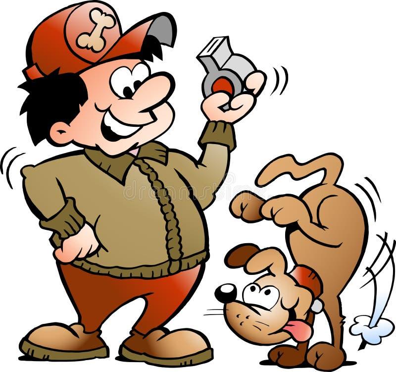 Illustrazione di vettore di un addestratore di cane royalty illustrazione gratis