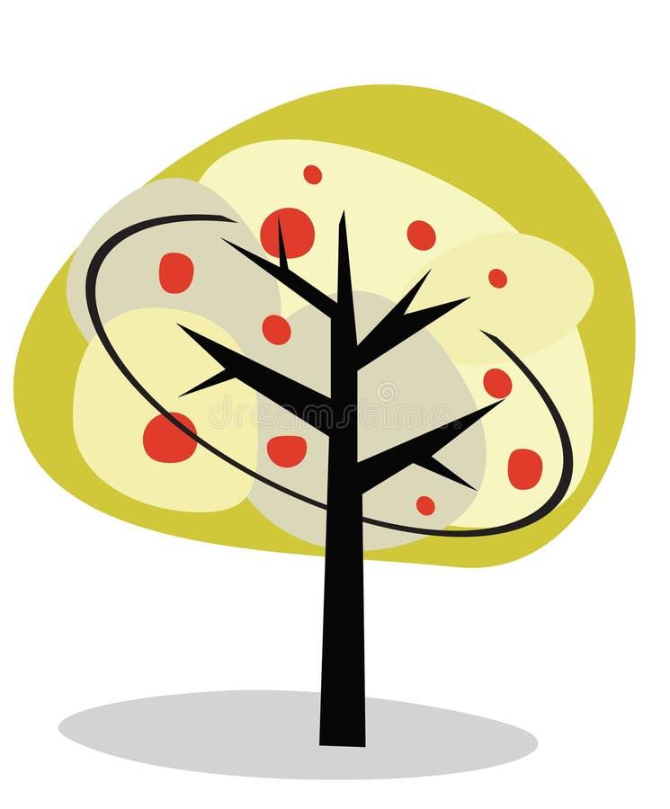 Illustrazione di vettore di un albero astratto. illustrazione vettoriale