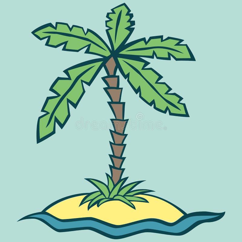 Illustrazione di vettore di un'isola fotografia stock libera da diritti